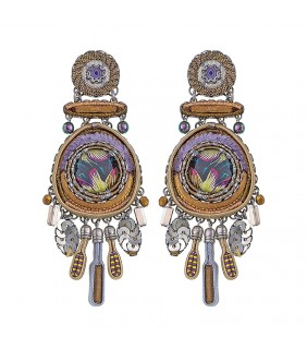 Purple Rain, Magic Eye Earrings