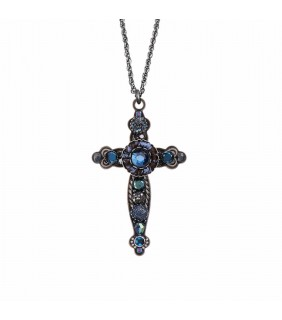 Zeta Cross Necklace