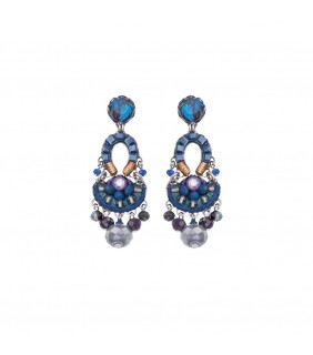 Sapphire Rain, Castle Earrings