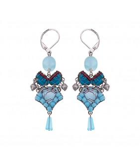 Turquoise Horizon, Cirrostratus Earrings