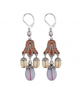 Coral Cave, Crimson Earrings