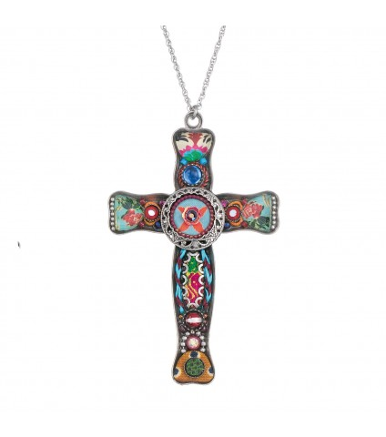 Ayala Bar Cross Necklace L