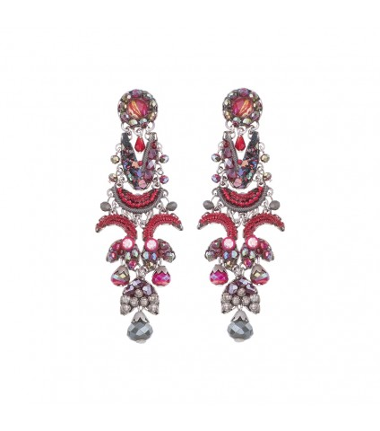 Crimson Flame, Talia Earrings