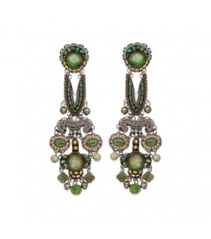 Green Moonlight, Thyme Earrings