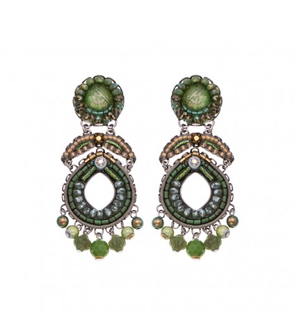 Green Moonlight, Majoram Earrings