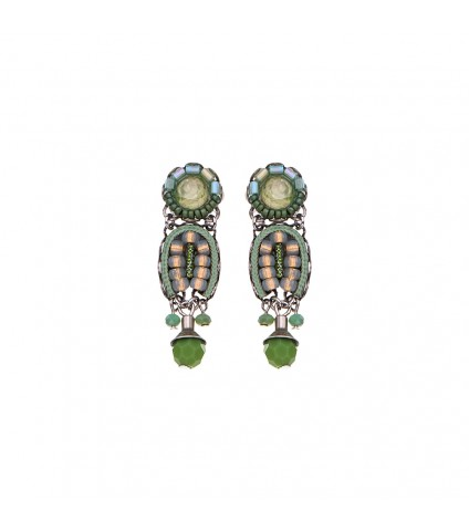 Green Moonlight, Anise Earrings
