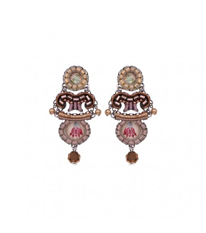 Royal Gold, Cocoa Earrings