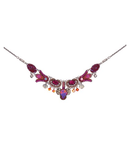 Deep Fuchsia, Angelica Necklace