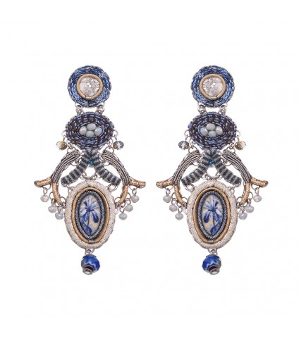 Sapphire Waves, Blues elle Earrings