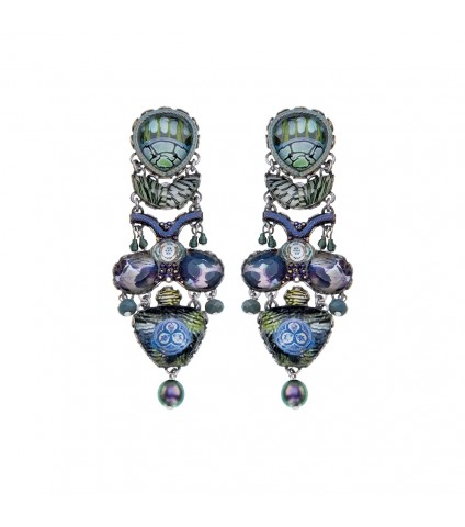 Blue Planet, Caudie Earrings