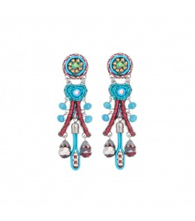 Coral Cave Barbara Earrings