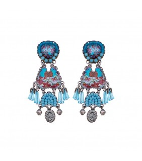 Turquoise Horizon, Altocumulus Earrings