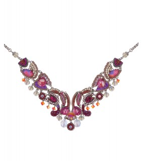 Deep Fuchsia, Pasly Necklace