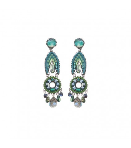 Green River, Iris Earrings