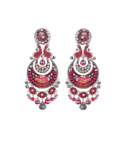 Crimson Flame, Phaedra Earrings