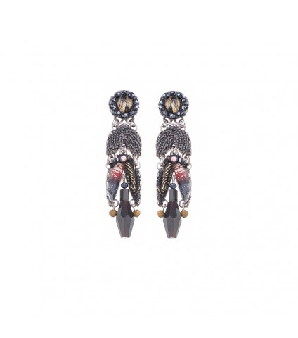 Moon Jet, Krissa Earrings
