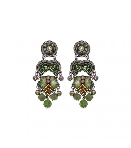 Green Moonlight, Mint Earrings