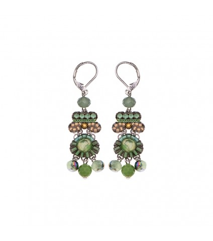 Green Moonlight, Sage Earrings
