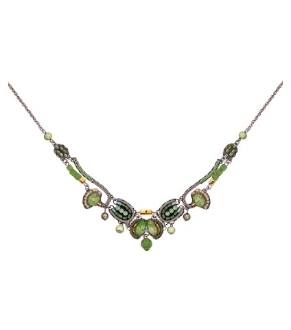 Green Moonlight, Basil Necklace